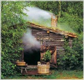 Steam bath made of logs is long-lasting, and the construction from solid timber is environmentally clean and hygienic