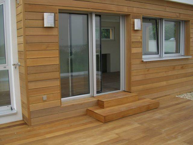 Wooden facade Front board from the Siberian Cedar. ARIX