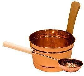 Аксессуары Saunia Ведро и черпак для сауны медь