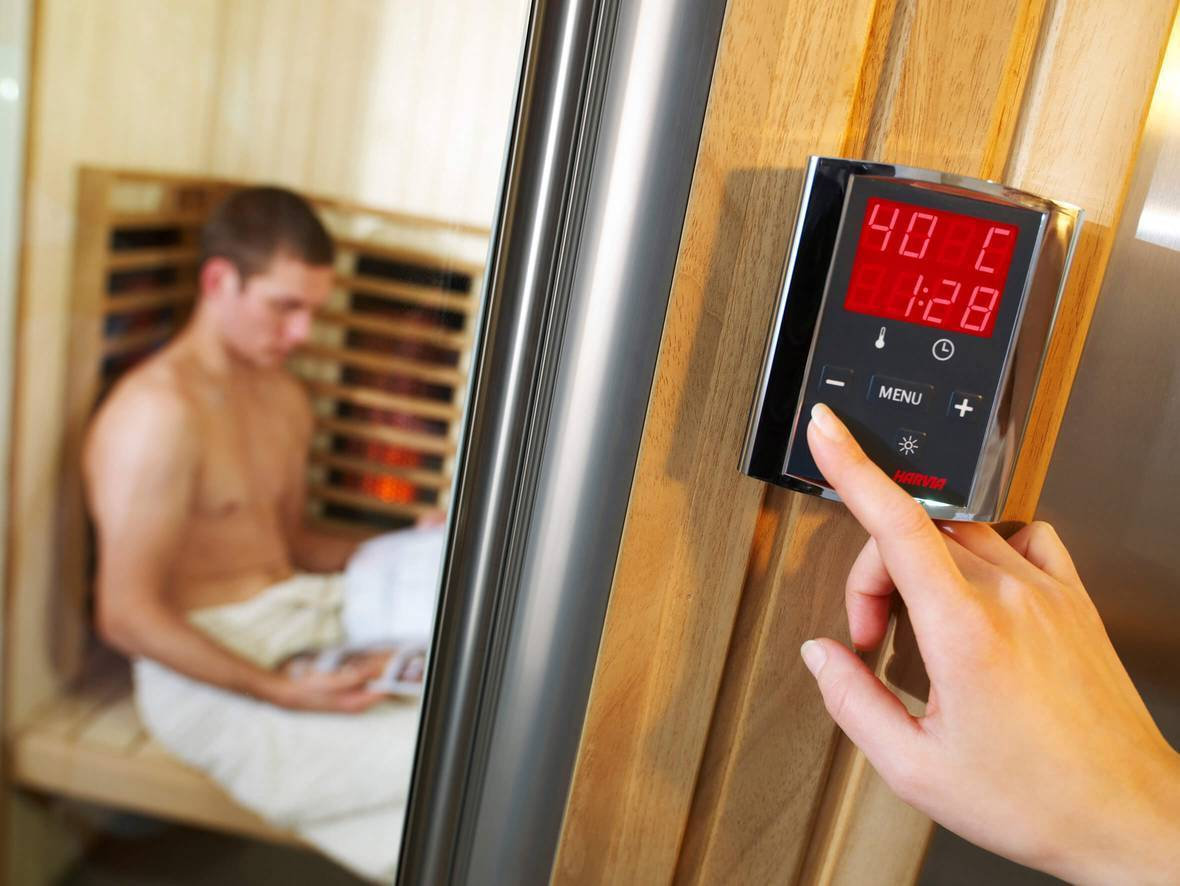 Control panels for saunas with electric heaters Harvia Griffin control panel Harvia