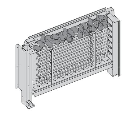 Električne peći za velike saune zapremine 10 ~ 66 m³ Električna peć Senator Hidden Heater Harvia