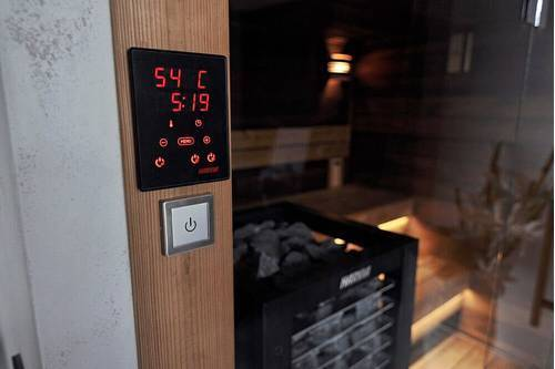 Control panels for saunas with electric heaters Harvia Xenio is a control unit with a touch control panel