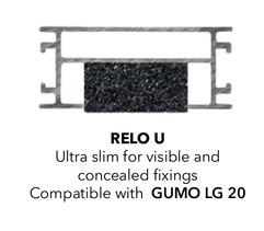 For the terrace Ultra slim Aluminum construction 41 x 64 RELO U for the installation of a terrace Fixing Group