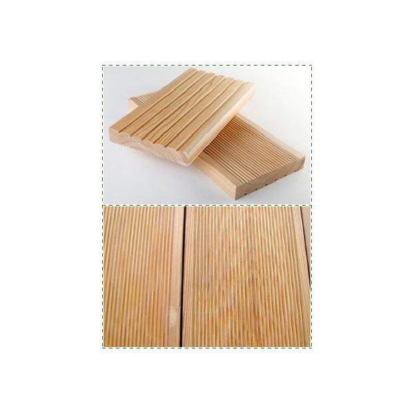 Drveni podovi Deking 20×90, 20×120, 20x145 od Sibirskog Ariša Antislip ARIX