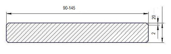 Drveni podovi Deking 20×90, 20×120, 20x145  od Sibirskog Ariša, Gladak ARIX
